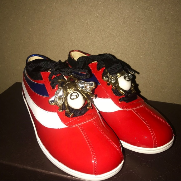 Gucci Falacer Patent Leather Sneaker